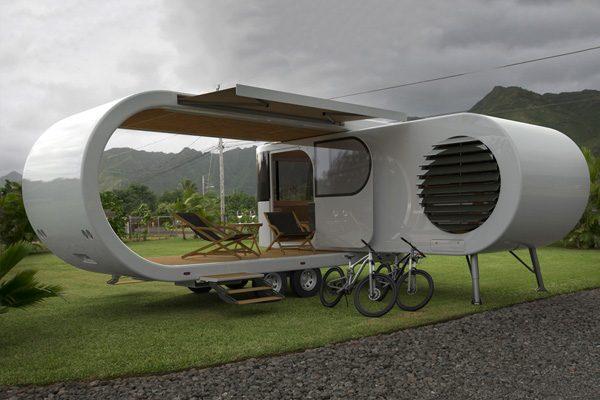 Romotow: een uitvouwbare caravan met ingebouwd terras