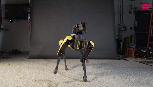 Robothond Spot danst de sterren van de hemel