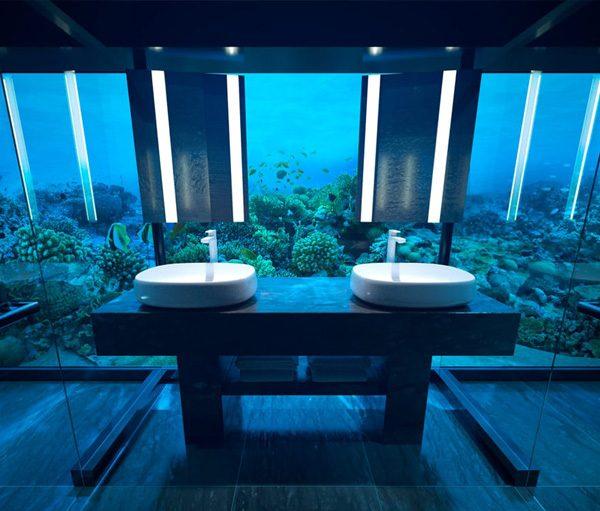 Dit is de eerste hotelkamer ter wereld die zich onder water bevindt