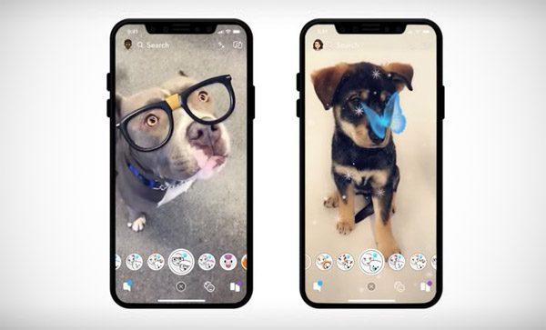 Je kunt de gezichtsfilters van Snapchat nu ook op honden gebruiken