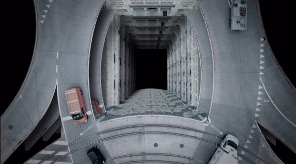 Luftraum: een Escher-achtige combinatie van wegen en gebouwen