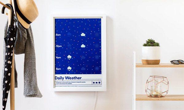 Weather Poster: een interactief weerbericht voor aan de muur
