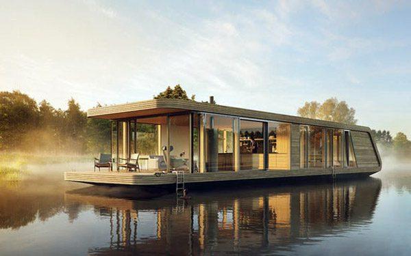 Naturecruiser: een schitterende Nederlandse woonboot op zonne-energie
