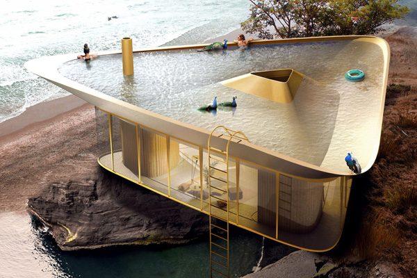 Summer House: een vakantiehuis met zwembad-dak