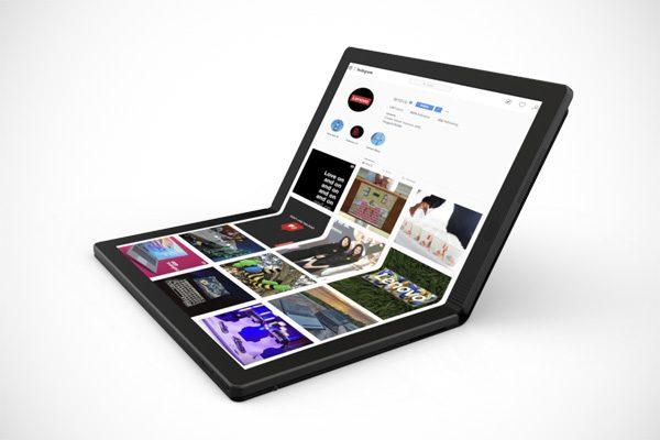 Lenovo onthult een laptop met een opvouwbaar scherm