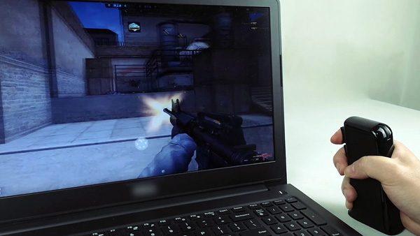Mousegun: een muis die speciaal is ontwikkeld voor shooters