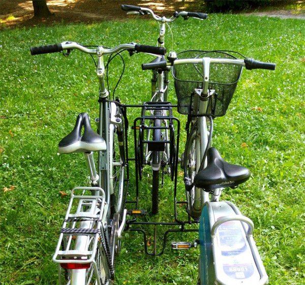 Verplaats twee fietsen met deze aanhangwagen voor je fiets