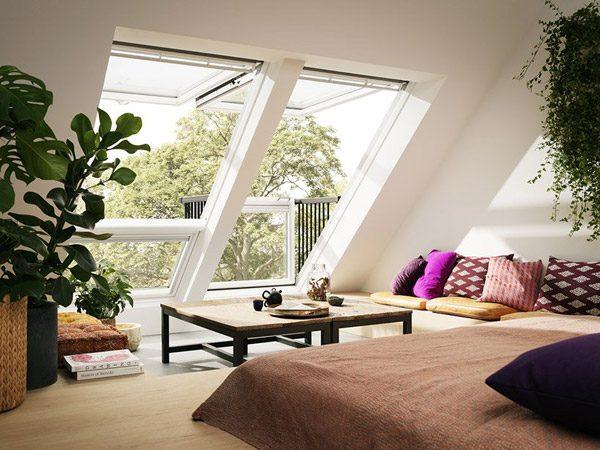 Velux Cabrio: dakraam en balkon in één