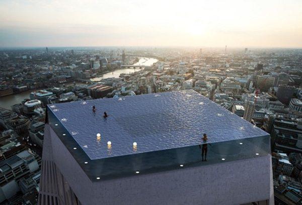 Infinity London: een zwembad op het dak van een Londense wolkenkrabber