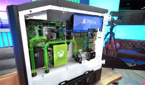 Origin combineert een PS4, een Switch, een Xbox One X en een game-pc
