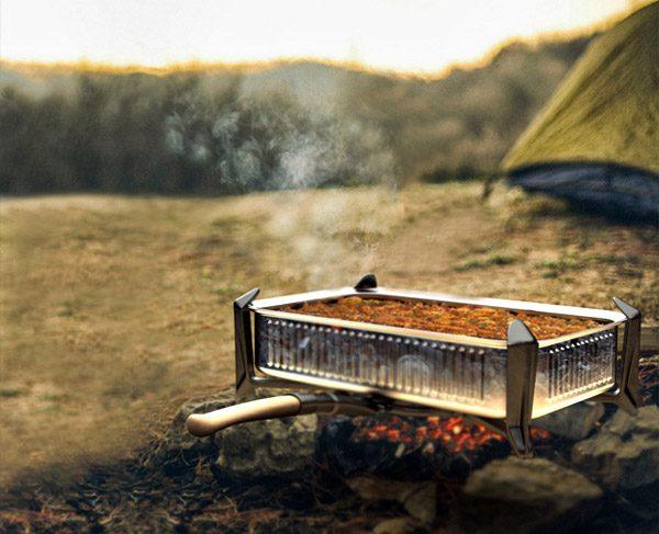 Met Panfold kook je tijdens het kamperen op vuur of gel