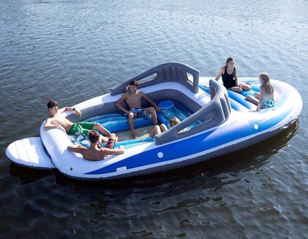 Bay Breeze Boat Island: een opblaasbaar drijvend eiland