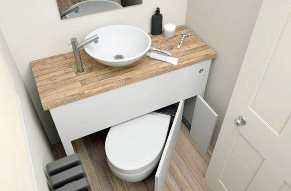 Hidealoo: een verborgen toilet dat water en ruimte bespaart