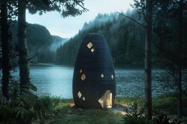 De prachtige Tera Cabin is gemaakt met een 3D-printer