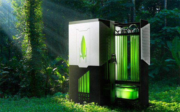 HyperGiant Bioreactor zuigt CO2 op met algen