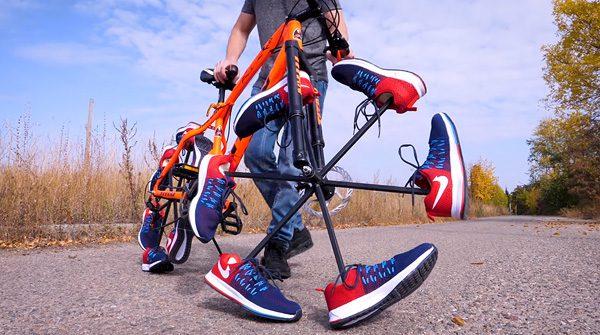YouTuber The Q vervangt fietsbanden voor schoenen