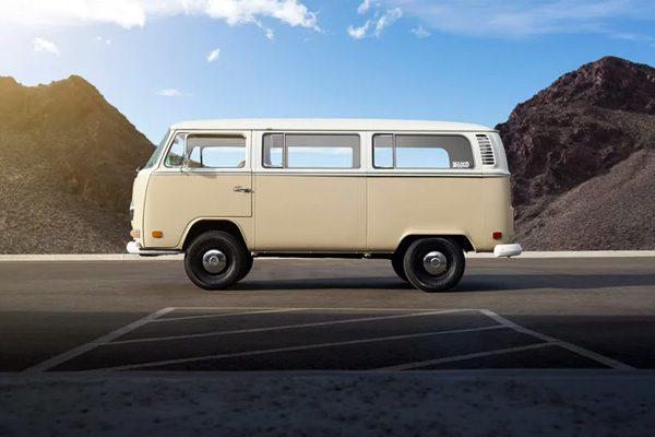 Deze klassieke VW-bus uit 1972 heeft een elektrische aandrijving