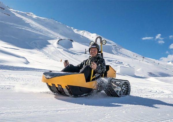 Bobsla: een elektrische kart voor in de sneeuw