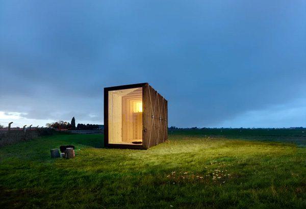 Cabin Y: een mini-huisje dat makkelijk te verplaatsen is