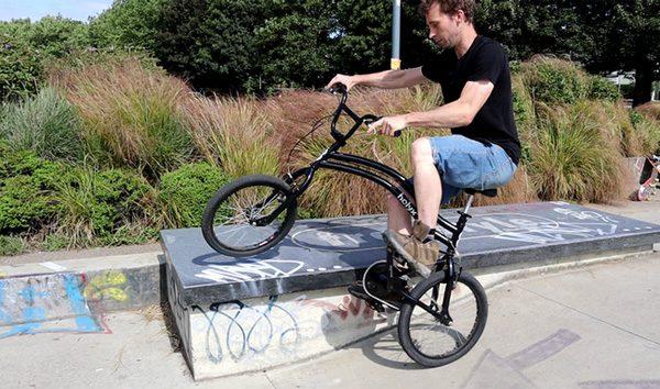 De Helyx Bike laat je ook met het achterwiel sturen