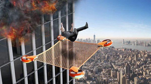 NetGuard: een drone die mensen uit hoge gebouwen redt