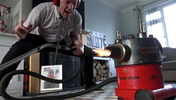 Colin Furze heeft een stofzuiger met straalmotor gebouwd