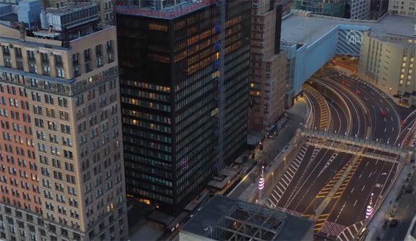 Drone-video's tonen vrijwel lege Amerikaanse metropolen