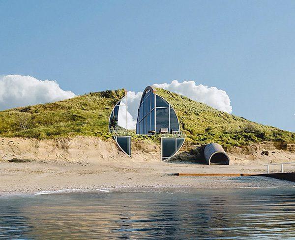 Dune House: een schitterende woning gebouwd in een duin