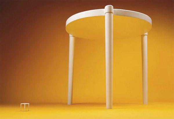 IKEA en Pizzahut maken grotere versie van het tafeltje uit pizzadozen