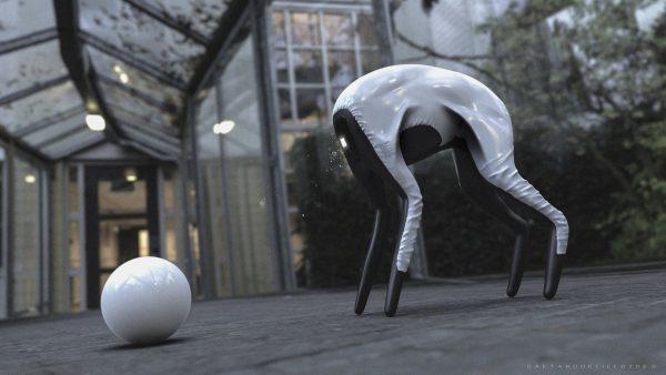 Ontwerper ontwikkelt futuristische robothond voor Samsung