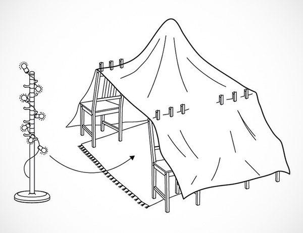 IKEA-handleidingen leggen uit hoe je de perfecte hut bouwt