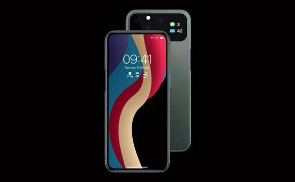 Indrukwekkend iPhone 12 concept heeft extra scherm op de achterzijde