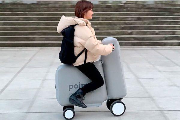 Poimo: een opblaasbaar elektrisch karretje dat in een rugzak past
