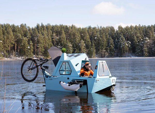 Z-Triton: de combinatie van een camper, boot en driewieler