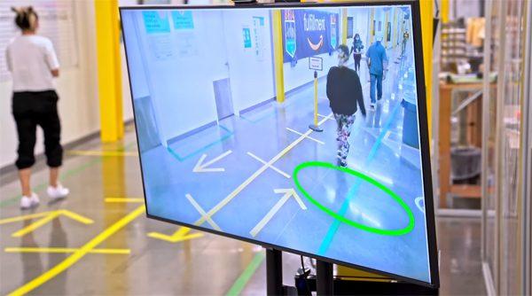 Amazon gebruikt kunstmatige intelligentie om medewerkers afstand te laten houden