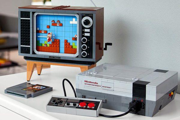 Lego biedt een set aan met een Nintendo Entertainment System
