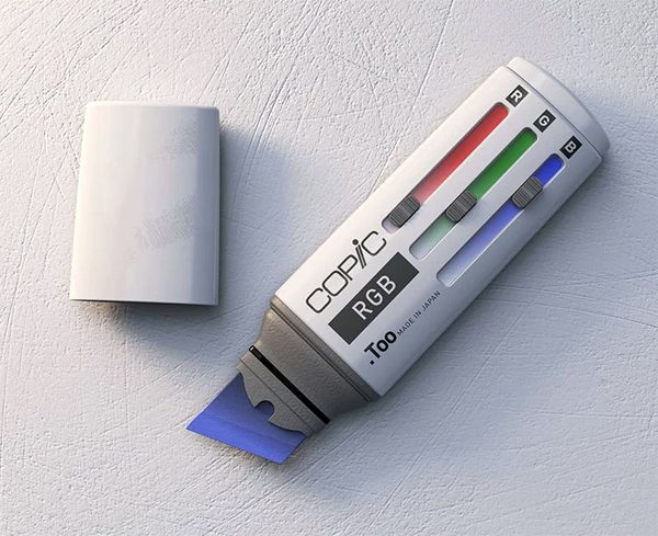 De Copic RGB is dankzij kleurensliders de ultieme markeerstift