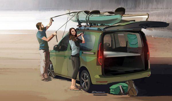 Volkswagen Mini-Camper: een uitbreidbare, handzame kampeerwagen