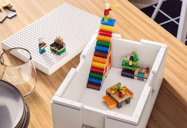 Ikea en Lego lanceren opbergdozen waarop je kunt bouwen