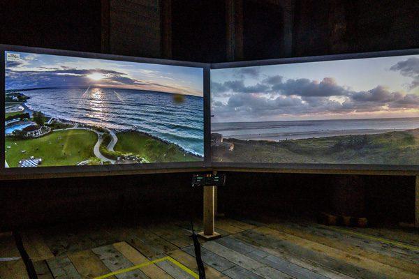 Kunstinstallatie laat 24 uur per dag een zonsopkomst en -ondergang zien