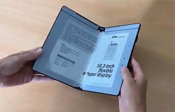 Nieuw type e-reader kun je opvouwen als een boek
