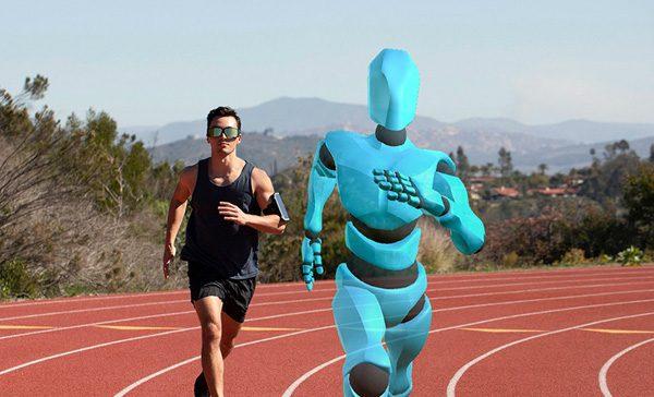 Deze AR-bril laat mensen hardlopen tegen een holografische tegenstander
