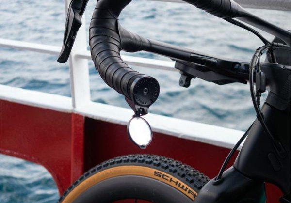Corky: een piepklein spiegeltje voor aan het stuur van je fiets