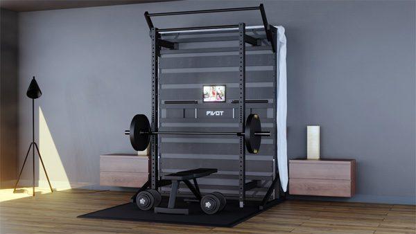 Pivot Bed: een opklapbaar bed en sportschool in één