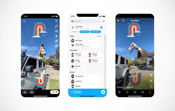 Snapchat lanceert Spotlight-functie als TikTok-concurrent