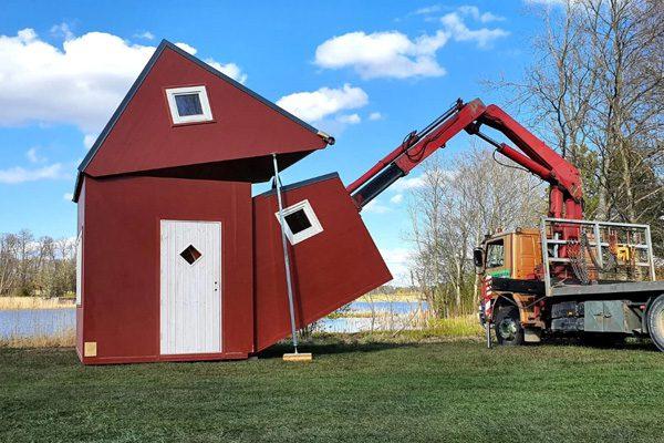Brette Haus: een huisje dat wordt uitgevouwen