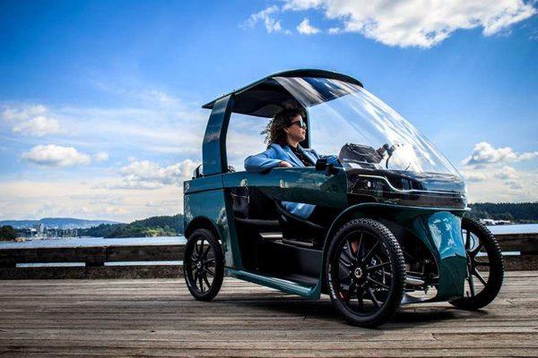 """CityQ: een elektrische """"fiets"""" met een dakje"""