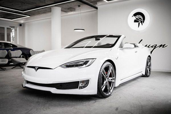 Italiaans bedrijf bouwt Tesla Model S om tot cabrio