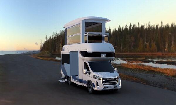 Maxus Life Home V90: een camper met een uitschuifbare verdieping