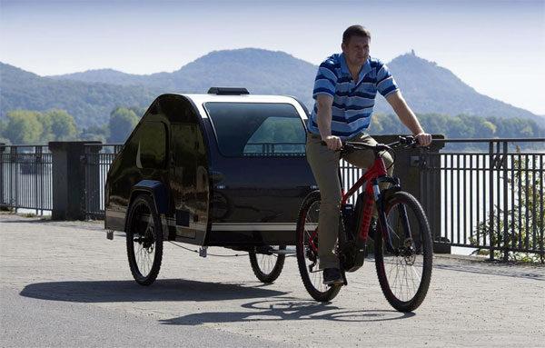 Mody: een eenpersoons-caravan voor achter de (elektrische) fiets